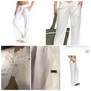 Flared White Pants